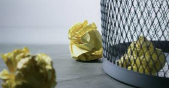 Rubbish bin, scrap, cancelled