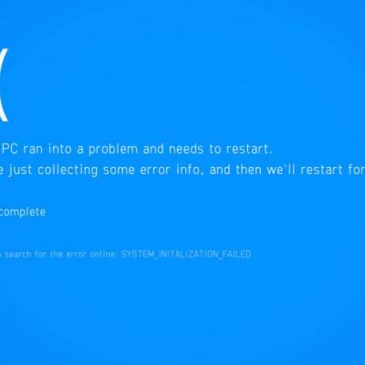 Microsoft Windows 10, blue screen of death