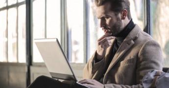 Laptop, Typing, People