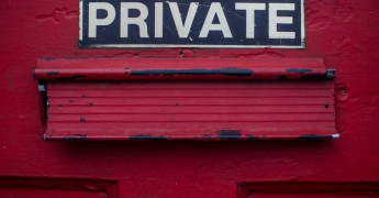 Privacy, Private door sign