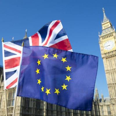 Brexit, Flag EU UK, Westminster