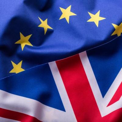 Flag EU, UK, Brexit