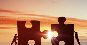 Cooperation, jigsaw pieces