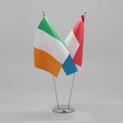 Flags Ireland & Luxemberg combined