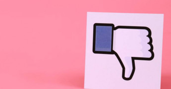 Facebook thumbs down pink