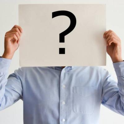 Man question mark,