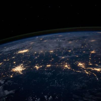 Data Transfer, Nasa image of Earth at night