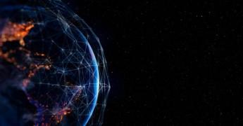 Data Transfer, globe digital image