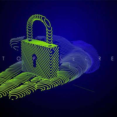 Padlock, data protection, digital image