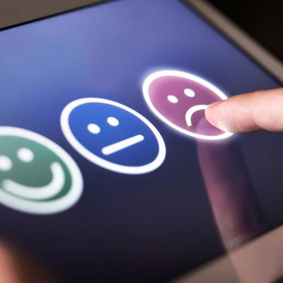 Dissatisfied customer, negative customer survey
