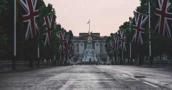 UK Flag, Buckingham Palace