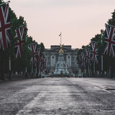 UK Flag, Buckingham Palace
