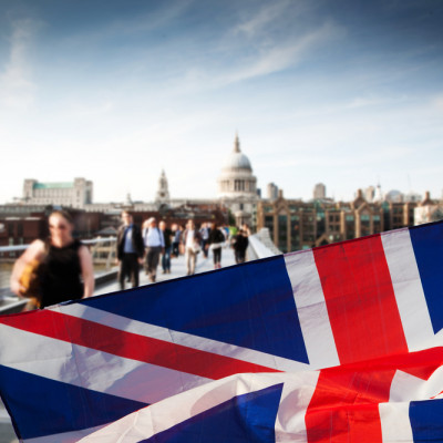 Westminster, Politics, UK Flag, blured people