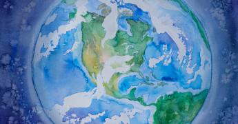 World map, globe