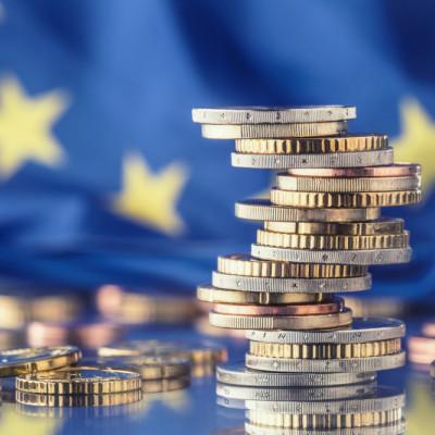 EU flag, euros, financial penalty, fine, enforcement