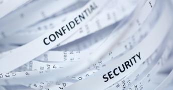 Confidential, shredded paper