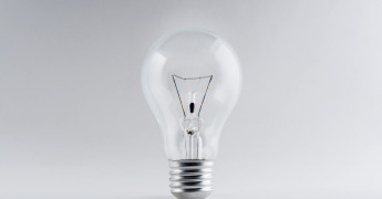 Light bulb, innovation, eureka