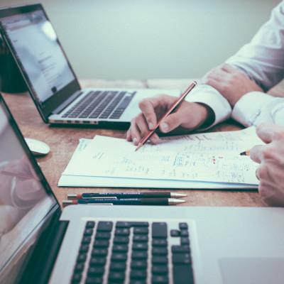 Laptop, planning, project management