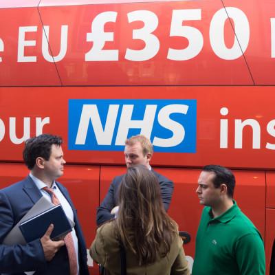 Brexit, Arron Banks, Leave.EU, red bus,