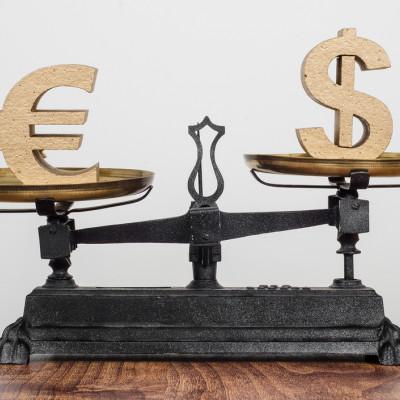 Dallar v Euro scales