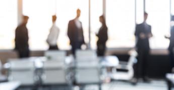 Blurred businesspeople, executives, leadership