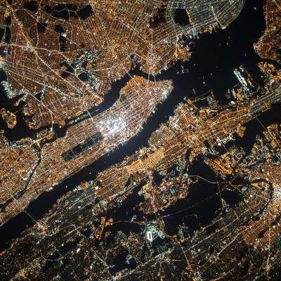 New York map from space