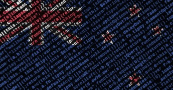New Zealand flag with computer code