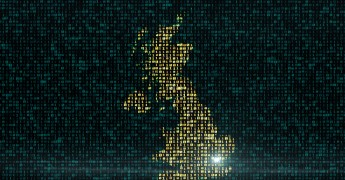 UK binary number digital image