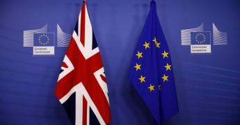 EU UK flags at European Commission