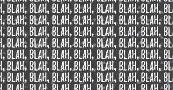Blah Blah Blah, blog