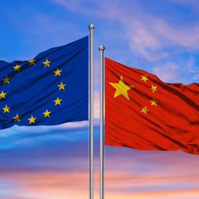 China, EU Flag