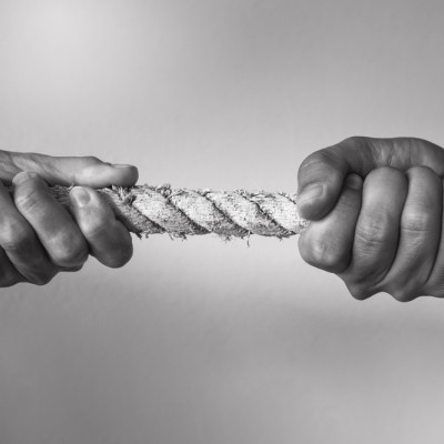 Tug of war, conflict