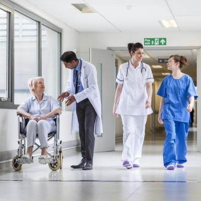 NHS hospital, patient, doctor, nurse