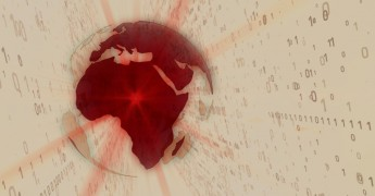 Binary, globe, World, data transfer
