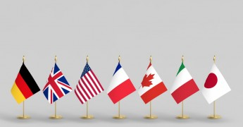 G7 country flags